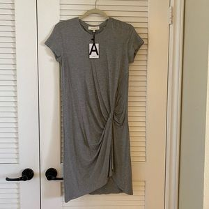 Heather Grey Knot Front Dress